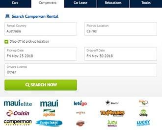 オーストラリアのキャンピングカーオンライン予約